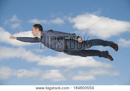 Falling Or Flying Man