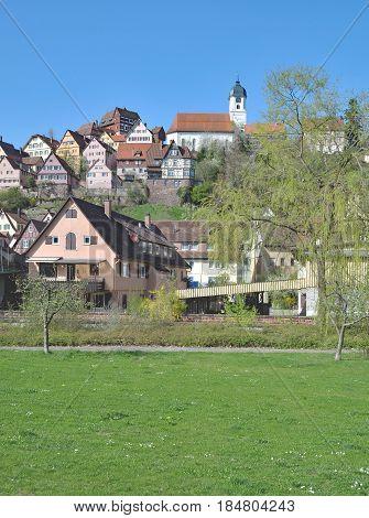 popular Village of Altensteig in Black Forest,Baden-Wuerttemberg,Germany