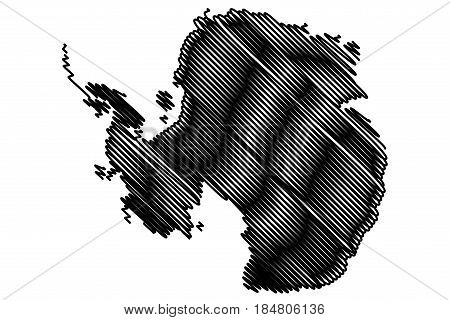 Antarctic map vector illustration , Antarctic map