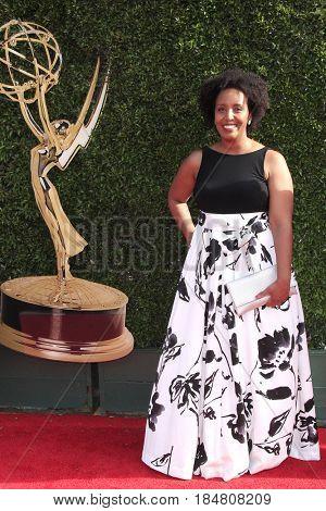 PASADENA - APR 28: Besega Bekele at the 44th Daytime Creative Arts Emmy Awards Gala at the Pasadena Civic Centerl on April 28, 2017 in Pasadena, California