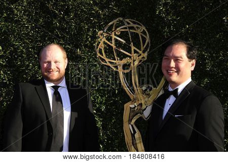 PASADENA - APR 28: Ronald Ruslim, Gavin Friesen at the 44th Daytime Creative Arts Emmy Awards Gala at the Pasadena Civic Centerl on April 28, 2017 in Pasadena, California