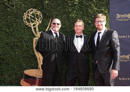 PASADENA - APR 28: Matt Guggenheim, Chad Hammes, Rodrigo Blaas at the 44th Daytime Creative Arts Emmy Awards Gala at the Pasadena Civic Center on April 28, 2017 in Pasadena, California