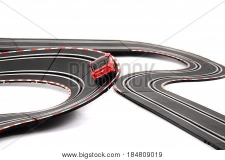 Racing Track Isolated