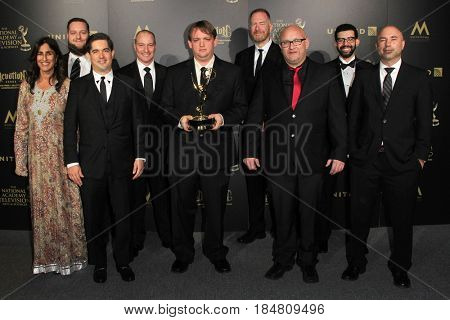 PASADENA - APR 28: Outstanding Sound Editing - Dino Trux at the 44th Daytime Creative Arts Emmy Awards Gala at the Pasadena Civic Center on April 28, 2017 in Pasadena, CA