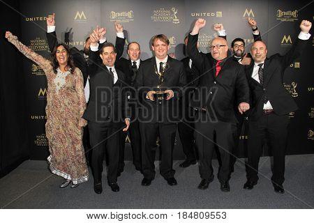PASADENA - APR 28: Outstanding Sound Editing - Dino Trux at the 44th Daytime Creative Arts Emmy Awards Gala at the Pasadena Civic Center on April 28, 2017 in Pasadena, CA