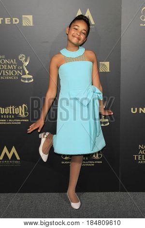 PASADENA - APR 28: Millie Davis at the 44th Daytime Creative Arts Emmy Awards Gala at the Pasadena Civic Center on April 28, 2017 in Pasadena, CA