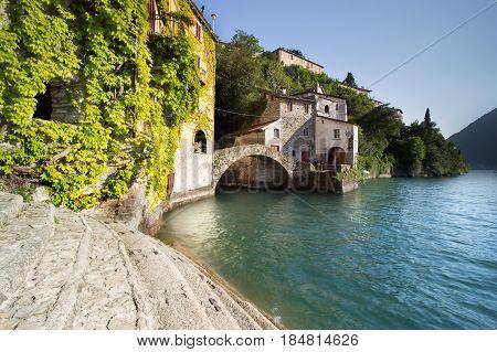 Pictorial village Nesso in Lago di Como - artistic picture