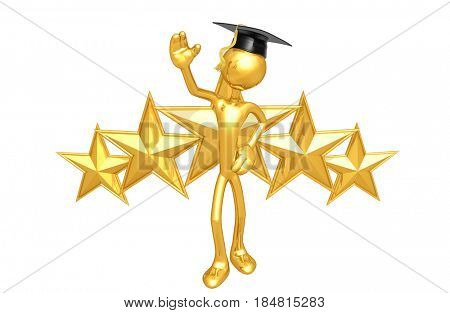 Graduate With Stars The Original 3D Character Illustration