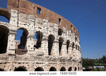 travel amazing Italy series - Colosseum in Rome on a sunny day