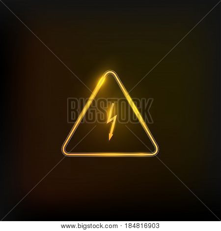 High voltage danger sign. Flash logo abstract design vector template. Lighting bolt icon.