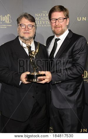 PASADENA - APR 28: Guillermo del Toro, Rodrigo Blaas at the 44th Daytime Creative Arts Emmy Awards Gala at the Pasadena Civic Center on April 28, 2017 in Pasadena, CA