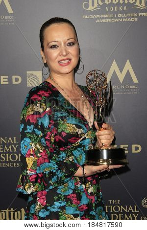 PASADENA - APR 28: Anzhela Adzhiyan, Outstanding Hairstyling for a Drama Series, General Hospital - 44th Daytime Creative Arts Emmy Awards Gala, Pasadena Civic Center on April 28, 2017 in Pasadena, CA