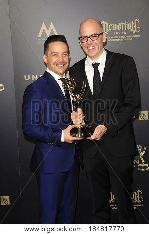 PASADENA - APR 28: Mark De Angelis, Tim McKeon at the 44th Daytime Creative Arts Emmy Awards Gala at the Pasadena Civic Center on April 28, 2017 in Pasadena, CA