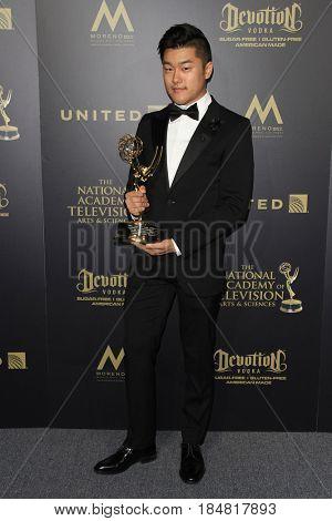 PASADENA - APR 28: Eastwood Wong at the 44th Daytime Creative Arts Emmy Awards Gala at the Pasadena Civic Center on April 28, 2017 in Pasadena, CA