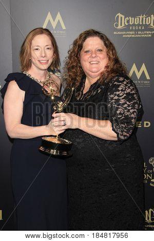 PASADENA - APR 28: Jenna Kostelnik-Utley, Amy Ward at the 44th Daytime Creative Arts Emmy Awards Gala at the Pasadena Civic Center on April 28, 2017 in Pasadena, CA