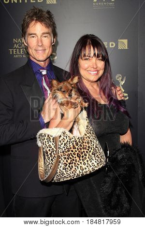 PASADENA - APR 28: Ronn Moss, Devin DeVasquez at the 44th Daytime Creative Arts Emmy Awards Gala at the Pasadena Civic Center on April 28, 2017 in Pasadena, CA