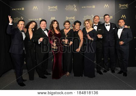 PASADENA - APR 28: Outstanding Morning Program in Spanish, Cafe CNN at the 44th Daytime Creative Arts Emmy Awards Gala at the Pasadena Civic Center on April 28, 2017 in Pasadena, CA
