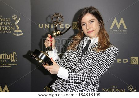 PASADENA - APR 28: Genesee Nelson, Outstanding Original Song Drama at the 44th Daytime Creative Arts Emmy Awards Gala at the Pasadena Civic Center on April 28, 2017 in Pasadena, CA