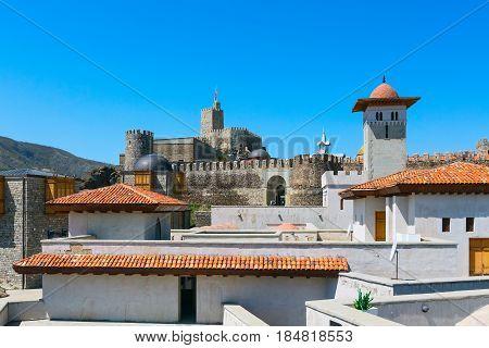 View of the famous fortress Rabat or Rabati in Akhaltsikhe, Georgia