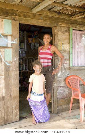 Mother Daughter Native House Big Corn Island Nicaragua