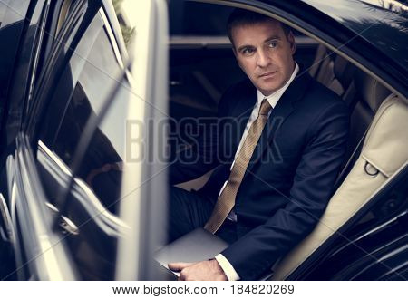 Businessman Corporate Taxi Transport Service