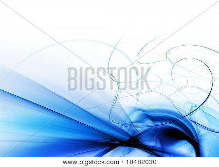 blue fractal wave