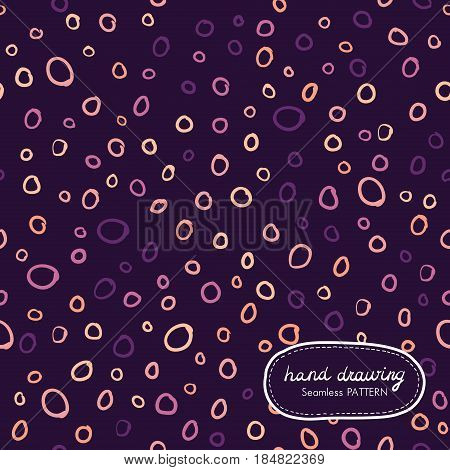 Hand Drawing Seamless Pattern with ringlet. Vector illustration