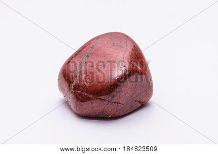 Red Striped Gemstone Gem Jewel Mineral Precious Shiny