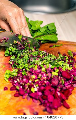 Cutting Beetroot
