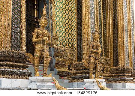 Giant Guardian Statues At Grand Palace, Bangkok