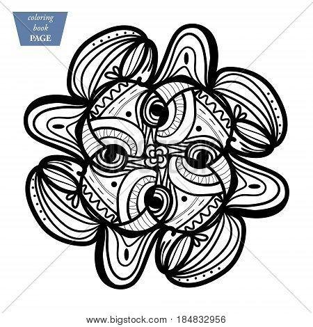 Mandala Coloring Vector Photo Free Trial Bigstock