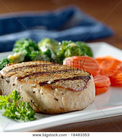 pork loin with grill marks