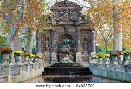 Fontaine de Medicis Jardin du Luxembourg ParisFrance.