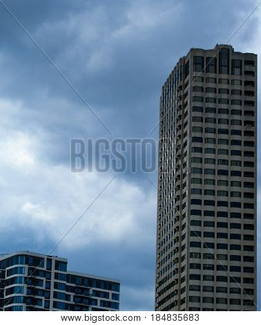 High rise buildings in downtown Houston Texas