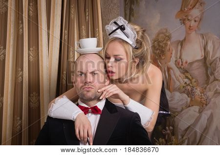 Sexual Chambermaid Bothers The Guest