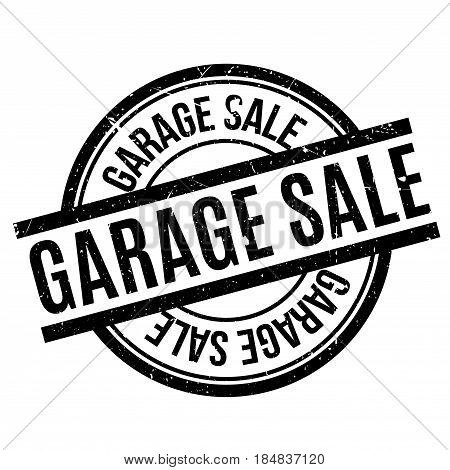 Garage Sale rubber stamp. Grunge design with dust scratches. Effects can be easily removed for a clean, crisp look. Color is easily changed.