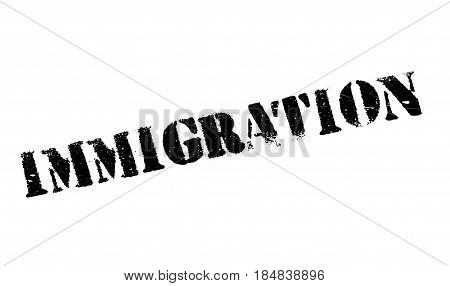 Immigration rubber stamp. Grunge design with dust scratches. Effects can be easily removed for a clean, crisp look. Color is easily changed.