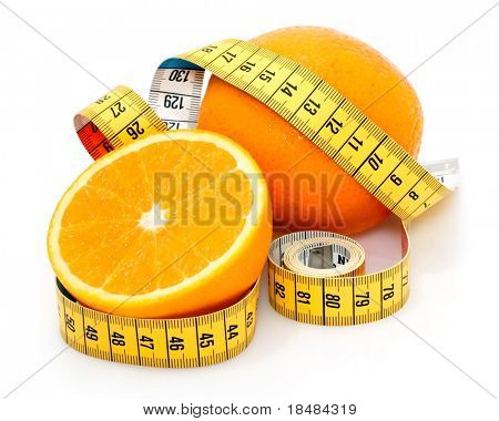 orange with measuring tape