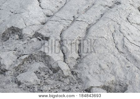 Lump of limestone powder. Texture of limestone powder.
