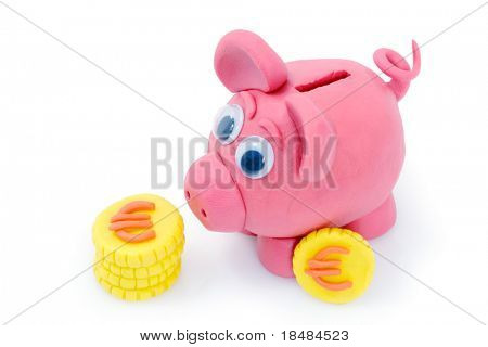 Plasticine piggy bank