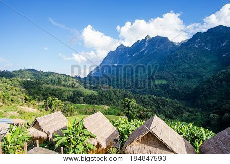 Homestay camping and tent at Doi Luang Chiang Dao High mountain in Chiang Mai Province Thailand