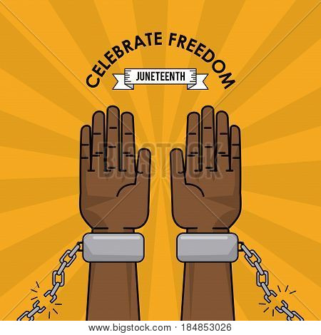 celebrate freedom struggle fight capmpaign vector illustration