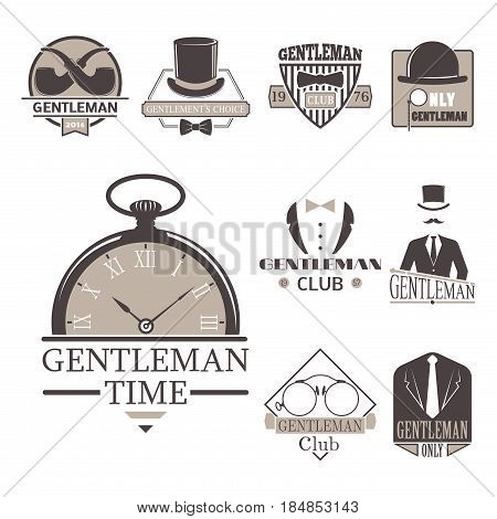 Vintage style design hipster gentleman logo vector illustration badge antique graphic design mustache element. Premium quality man shop stamp classic black silhouette fashion moustache barber sign.