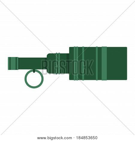 Grenade explosive bomb military and grenade army weapon. Grenade metal armed attack explode. Destruction steel bomb equipment. Hand grenade bomb explosion weapons vector.