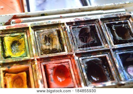 Artist's Watercolor Palette