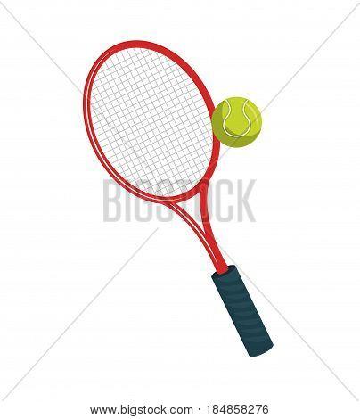 tennis sport equipment icon vector illustration design