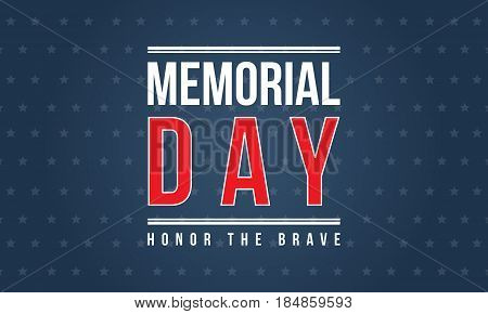 Background of memorial day vector illustration collection stock