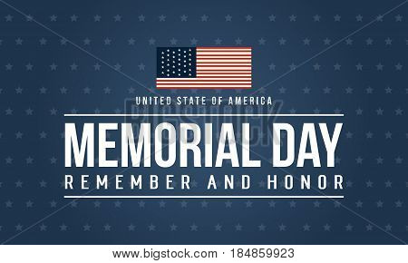 Happy memorial day theme background vector illustration