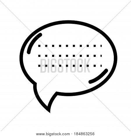 figure chat bubble communication message, vector illustration