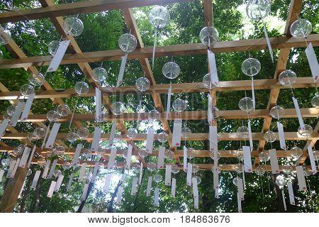 Japanese Wind Chime Garden at Kawagoe, Japan